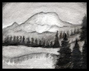 Drawn mountain realistic Realistic draw 2 landscape mountains