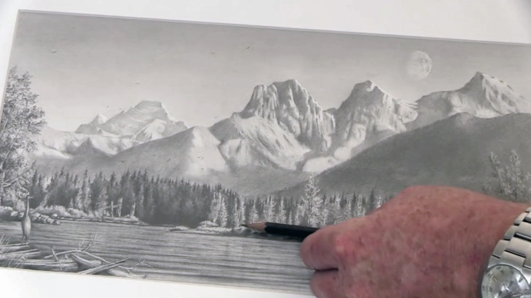 Drawn mountain realistic Picture Tutorial To Drawing of