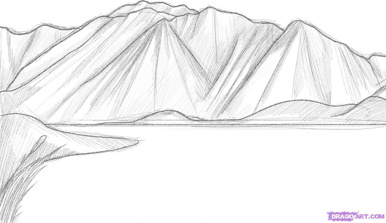 Drawn mountain realistic Pictures Mountain to step how