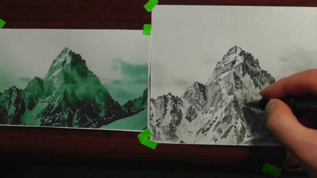 Drawn mountain realistic In 3 tips lesson realism