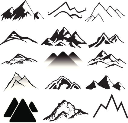 Mountain clipart simple #3