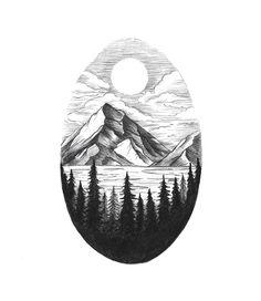 Drawn mountain sketched Pinterest mountain sketch/drawing  Mountain