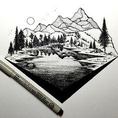 Drawn mountain sketched REALLY Derek SketchMountain mountain #art