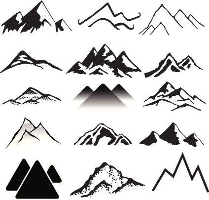 Mountain clipart two mountain #3