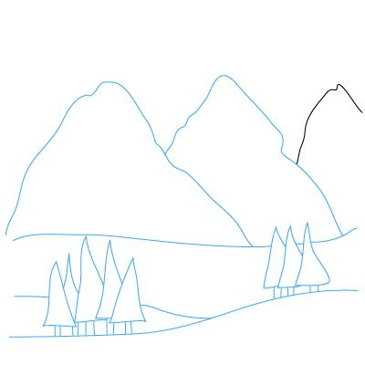 Drawn mountain step by step To how Best mountains mountains