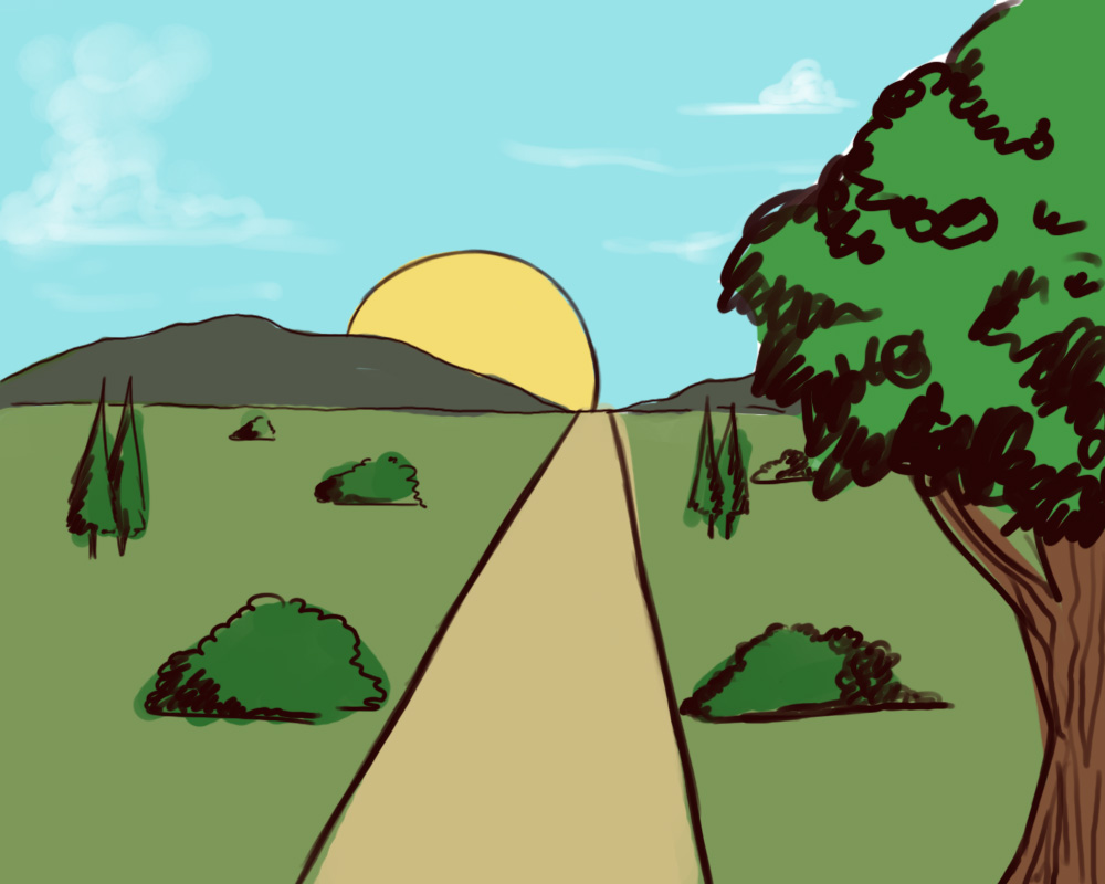 Drawn mountain sunrise (with Own How wikiHow Draw