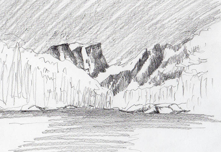 Drawn snow graphite Mountains Craftsy in Draw of