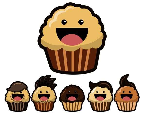 Drawn muffin Images Aziz logo on about