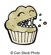 Drawn muffin Muffin Illustrations royalty free and