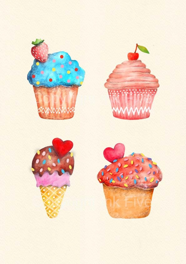 Drawn sweets colorful cupcake Ideas Sweet Muffins Best Pinterest