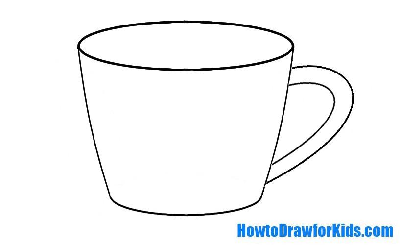 Drawn mug Cup drawing a Kids com