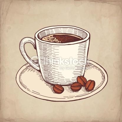 Drawn mug Cup Hand Cappuccino Drawn Coffee