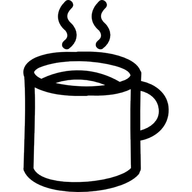 Drawn mug Free hot drawn hand outline