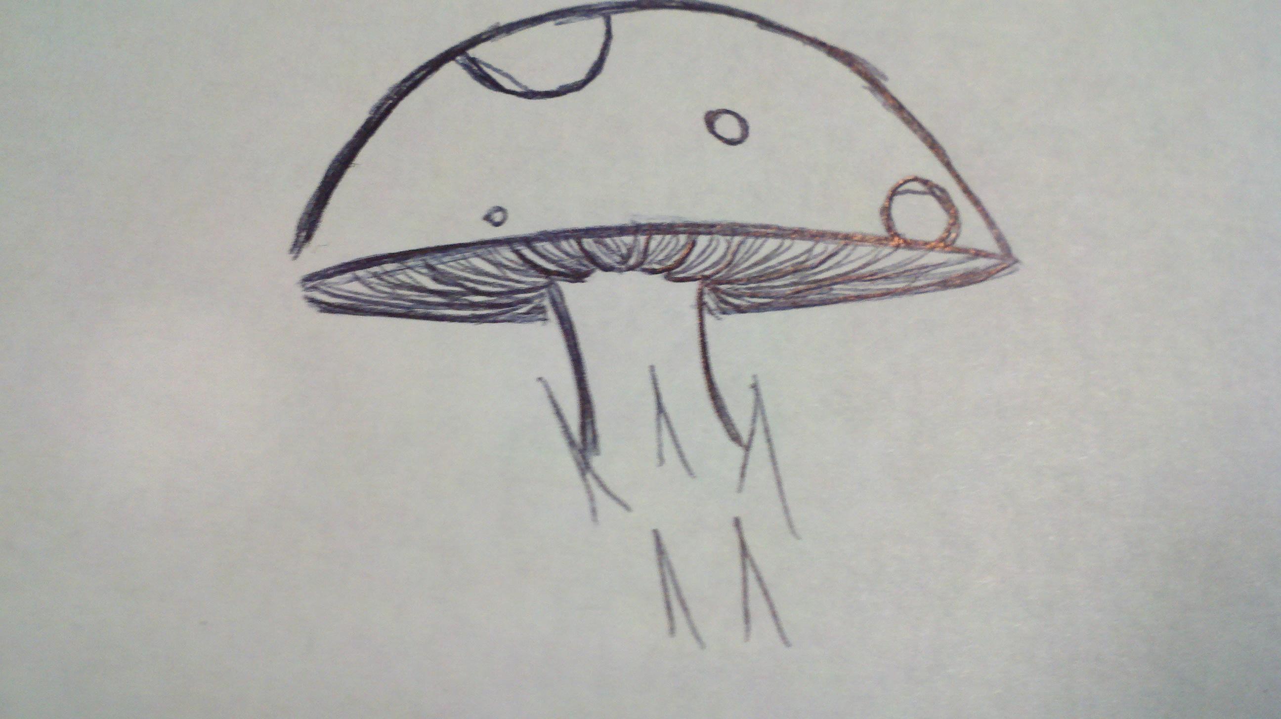 Drawn mushroom alice in wonderland mushroom To papercanyons How A Mushroom