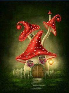 Drawn mushroom On Mushroom  Magical Find