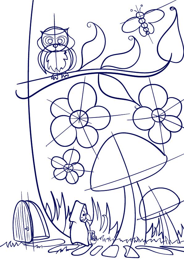 Drawn mushroom A How Mushroom Step Tutorial