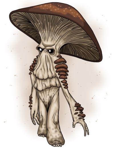 Drawn mushroom character Google myconid images Myconids Pinterest