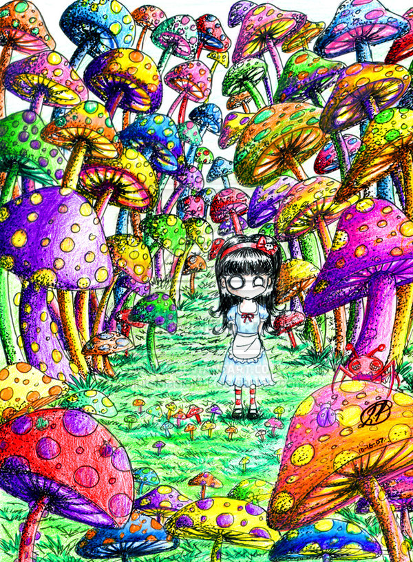 Drawn triipy scenery On by Mushroom deviantART Drawings