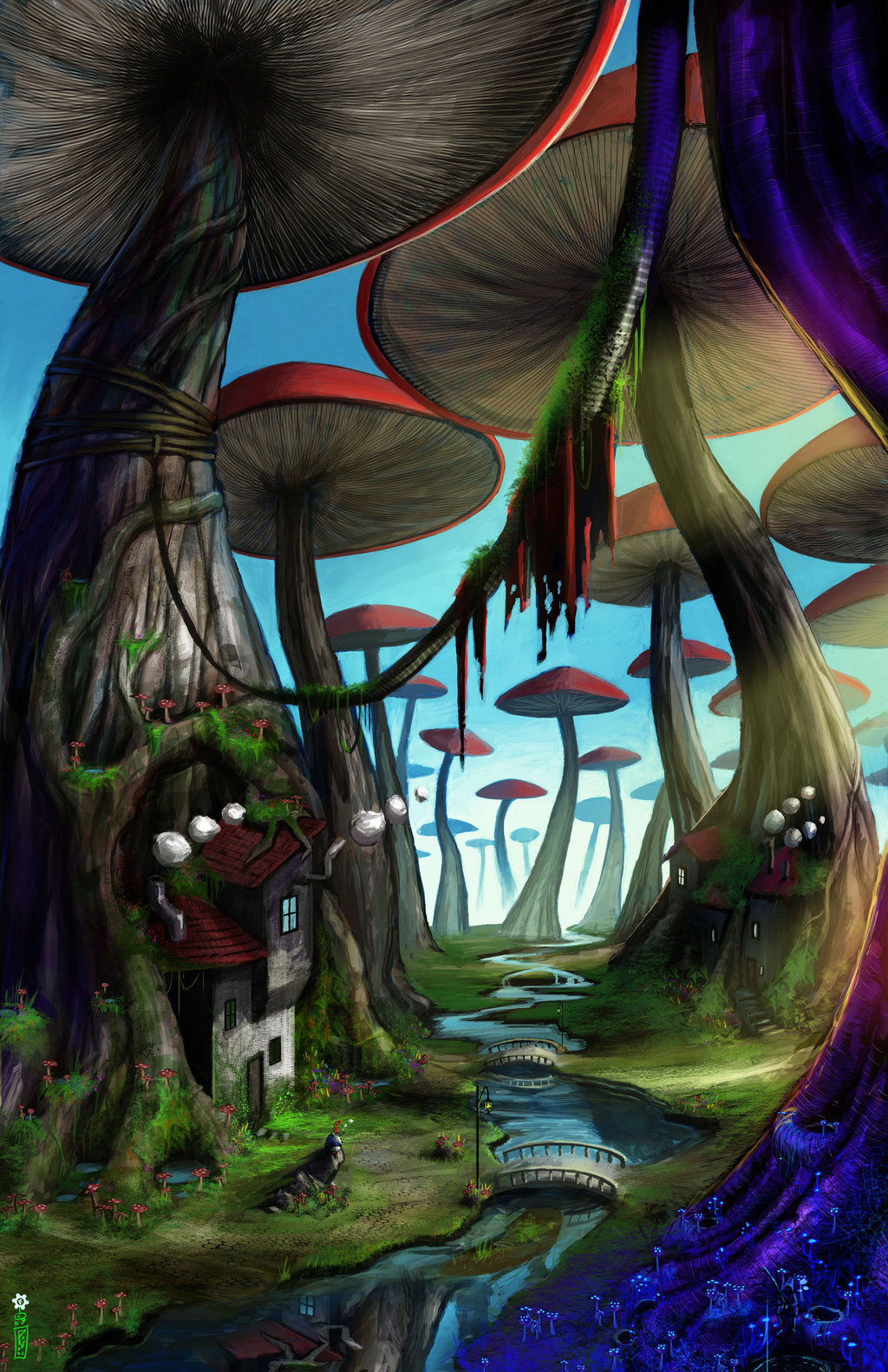 Drawn triipy mushroom forest By dinmoney Pinterest Mushrooms forest