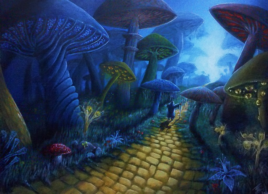 Drawn triipy mushroom forest By Virgil5 Pinterest and Mushrooms