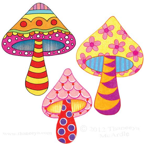 Drawn mushroom Thaneeya Lessons Easy Colorful Draw
