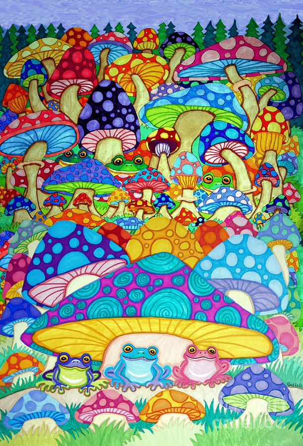 Drawn triipy frog Magic DrawingMushroom on Trippy ArtTrippy