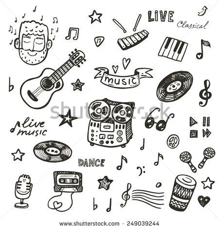 Drawn music Hand set set drawn Pinterest