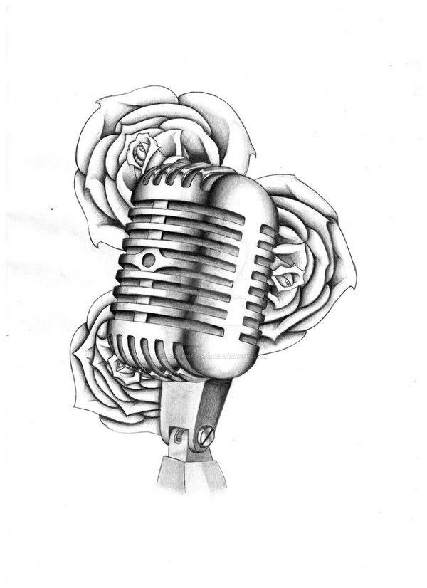 Drawn music 50's Tattoo Best Pinterest [2017 Design