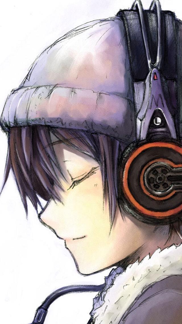 Drawn music anime Is dark this or hair