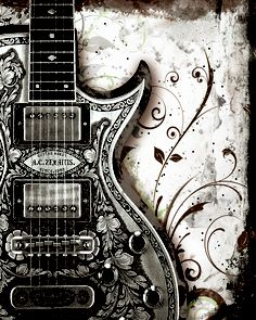 Drawn musician musical instrument This Guitar found … ArtMusic