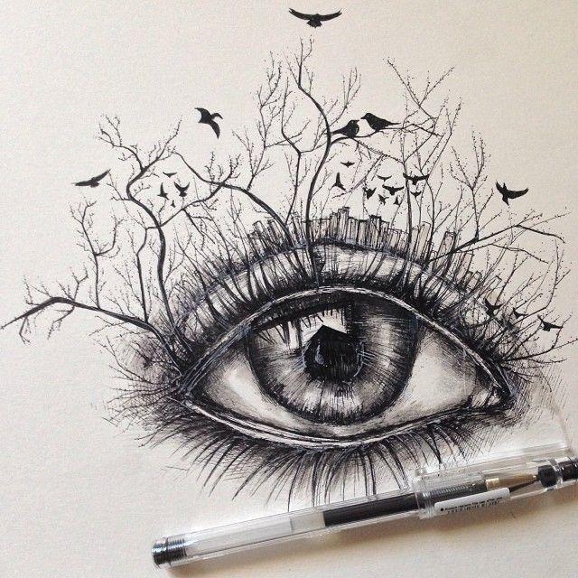 Drawn cigarette surreal #2