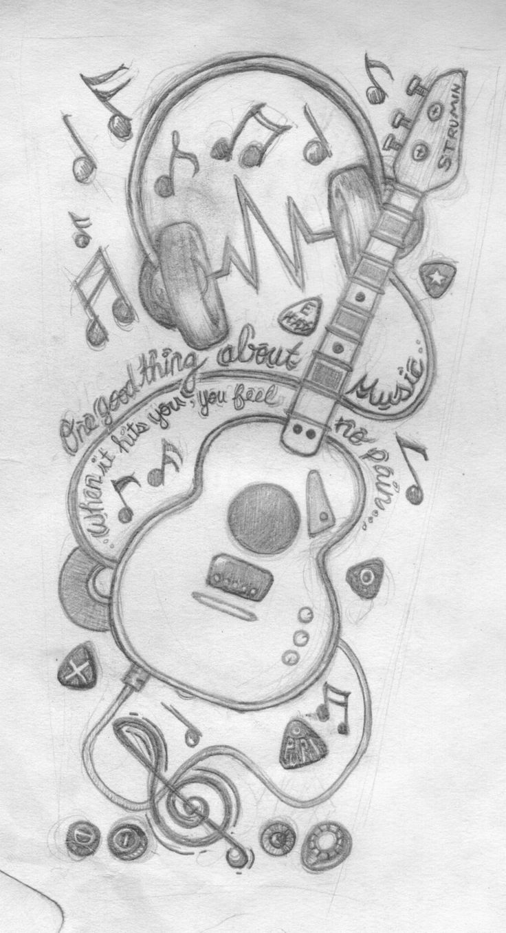 Drawn music awesome On music sleeve designs tattoos