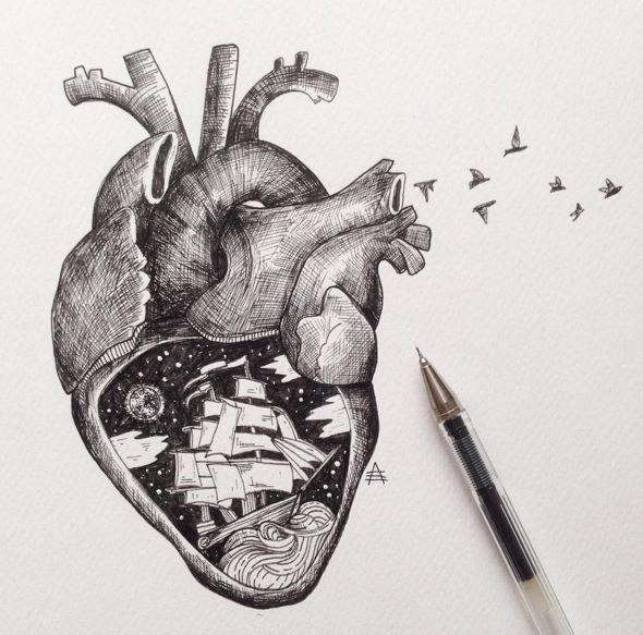 Drawn music beautiful heart Heart Anatomical 25+ ideas Pinterest