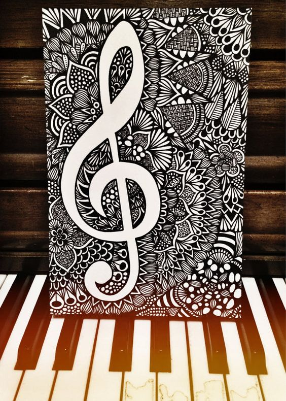 Drawn music beautiful music To World Another Me