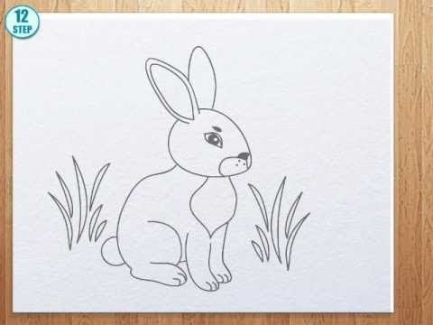 Drawn rabbit step by step To How to bunny draw