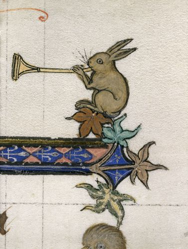Drawn music bunny Illustration trumpet Rabbit Comestor Historia