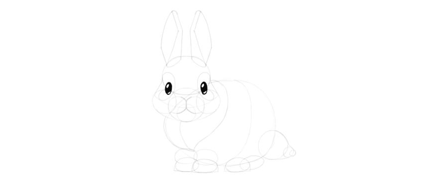 Drawn music bunny Eyes Step to Draw Cute