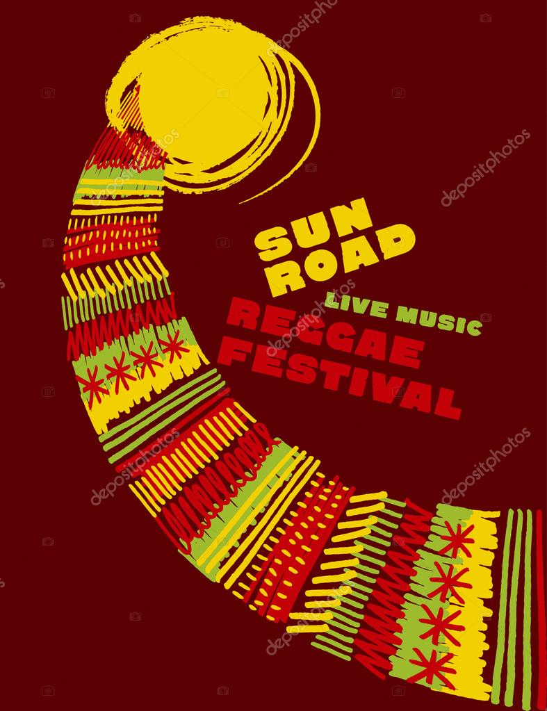 Drawn music classic Drawn Reggae poster style color