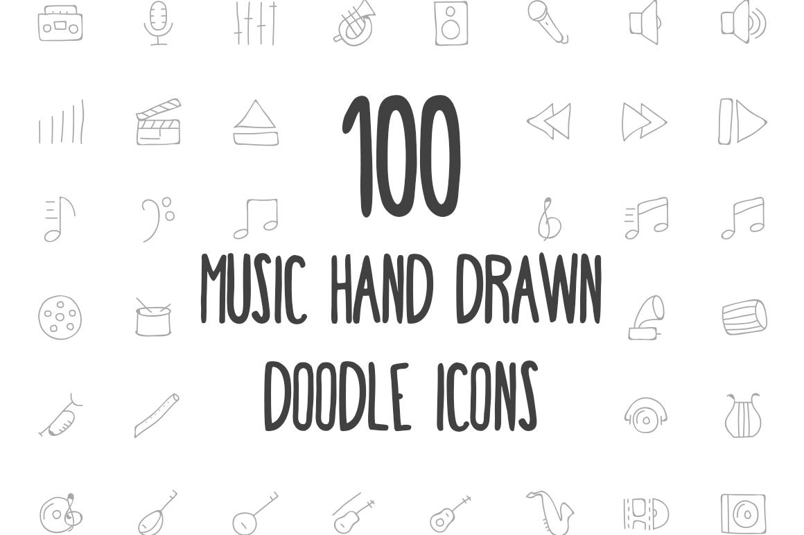 Drawn music creative Icons Music Drawn 100 Music