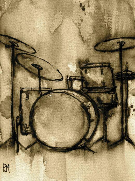Drawn musician vintage DrawingMusic 25+ Pinterest Drums ideas