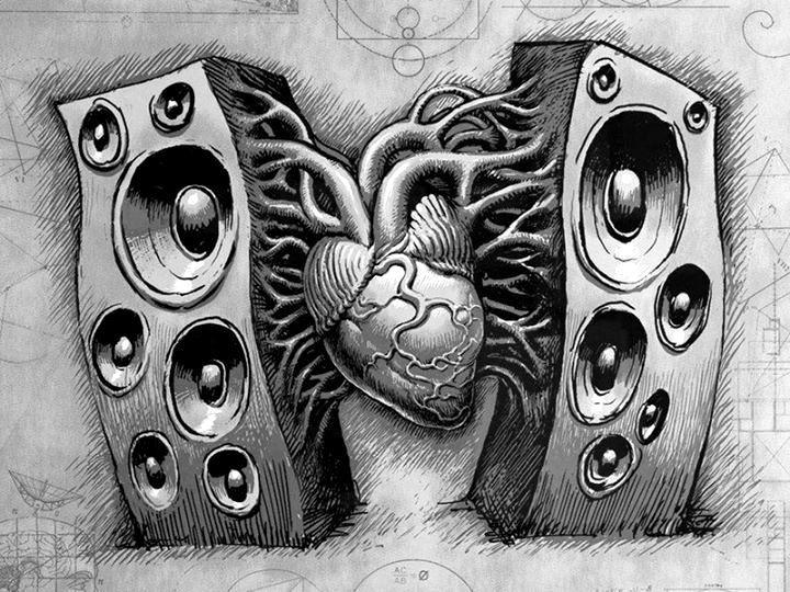 Drawn music dj speaker #heart best #edm #music about