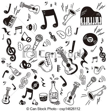 Drawn music doodle art Letter&art Art Music Hand Hand