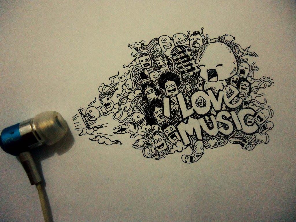 Drawn music doodle art On Doodle @DeviantArt Drawing Doodle