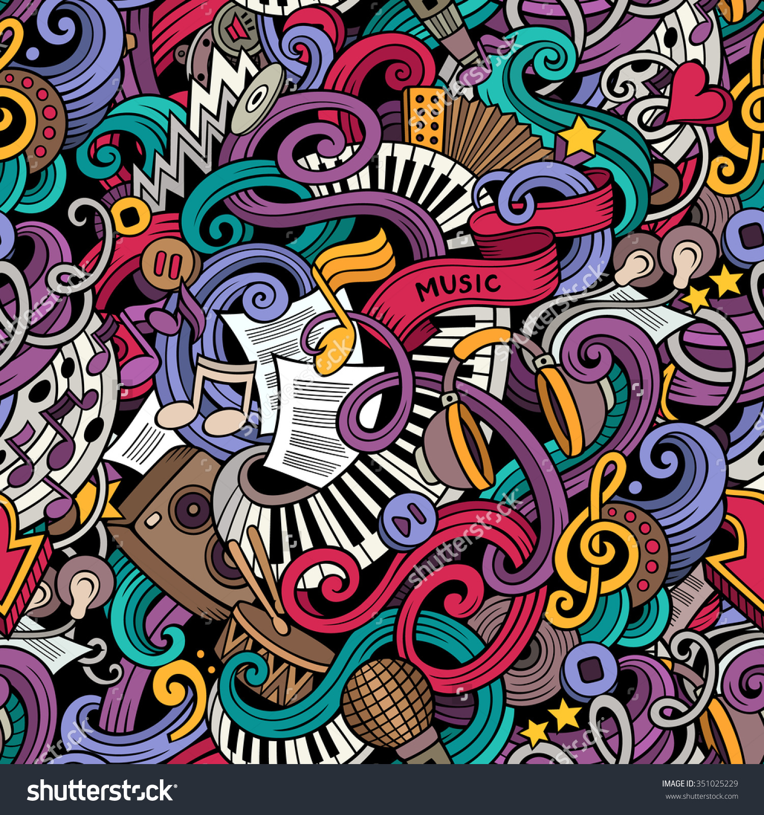 Drawn music doodle background Music Style The On Subject