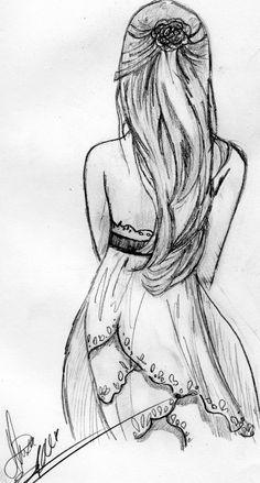Drawn music dress tumblr Simple drawing  in dress