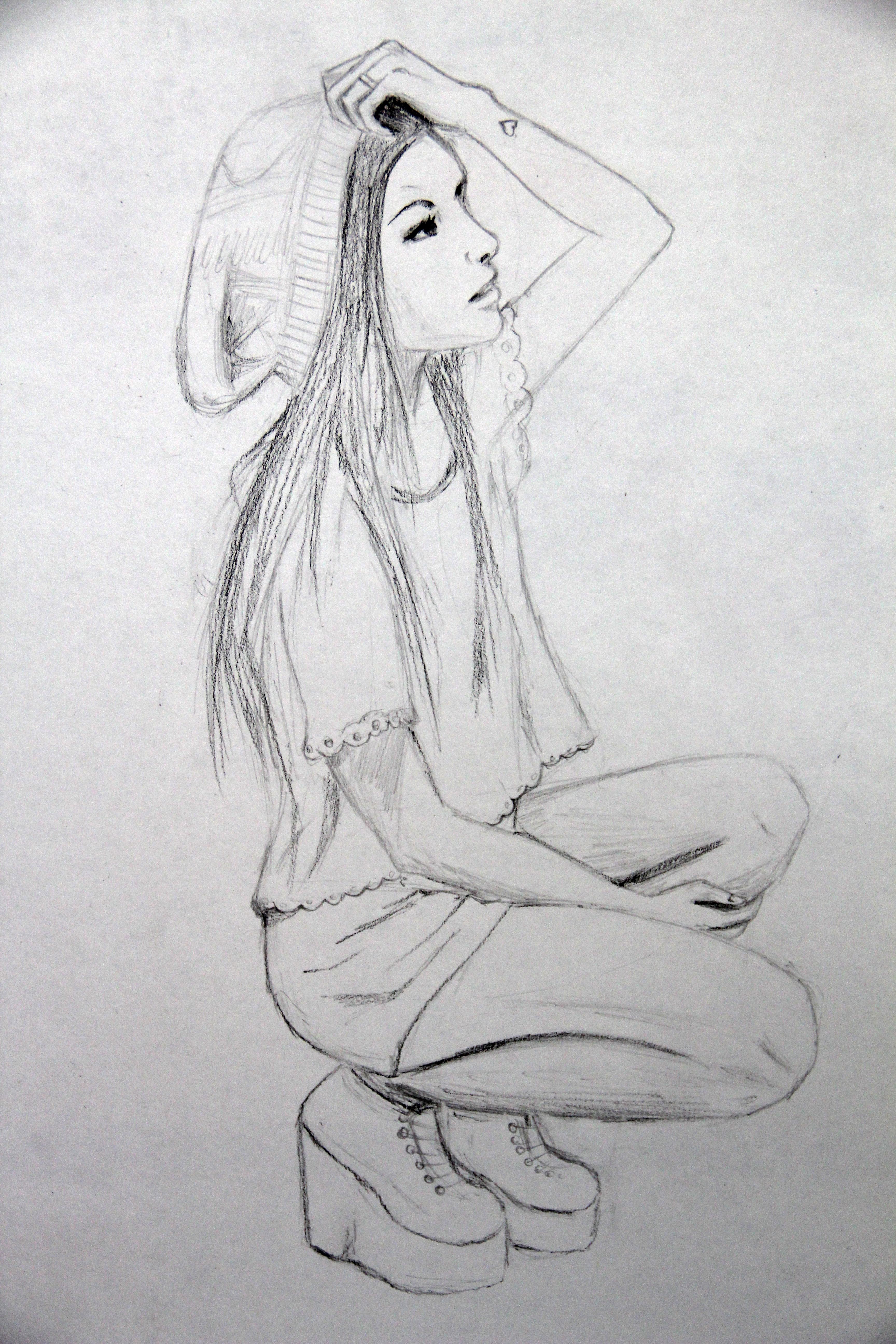 Drawn musician dress tumblr I did on girl Melissa