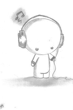 Drawn headphones simple Chibi metanner drawings DrawingsEasy art