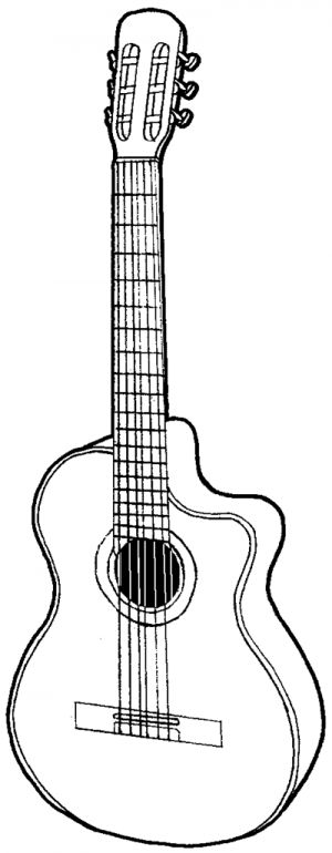 Drawn musician pencil drawing Drawing guitar to by on