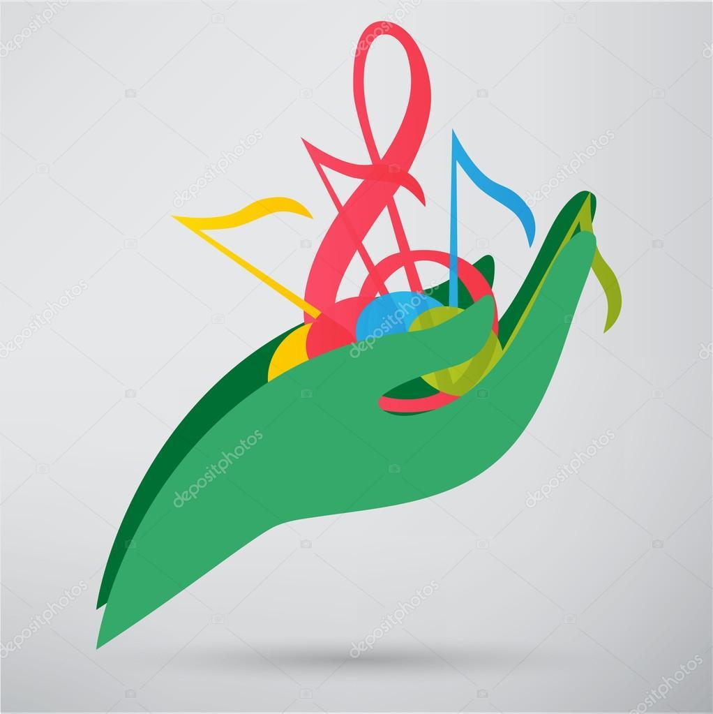 Drawn music hand holding © #74822899 icons slasny1988 —