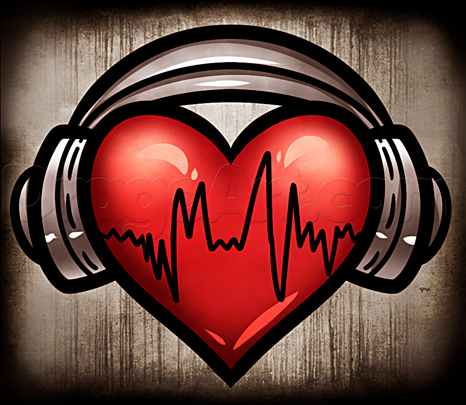 Drawn hearts simple art Heart draw dragoart http://www headphones